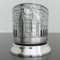 Подстаканник никелированный «ГУМ» с чернью «Кольчугино»