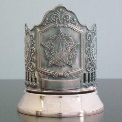 Подстаканник медный «Орден Победы» с чернью (герб СССР) «Кольчугино»