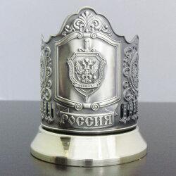 Подстаканник латунный «ФСБ» с чернью «Кольчугино»