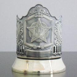 Подстаканник латунный «Орден Победы» с чернью (герб СССР) «Кольчугино»