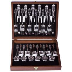 Набор 24 пр. столового серебра на 6 персон №12 (Мстёрский ювелир)