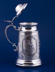 Серебряная кружка для пива №5 (Мстёрский ювелир)