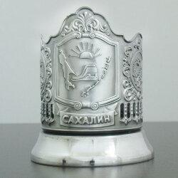 Подстаканник никелированный «Сахалин» с чернью «Кольчугино»
