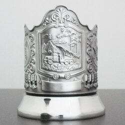 """Подстаканник «Катюша» никелированный с чернением """"Кольчугино"""""""
