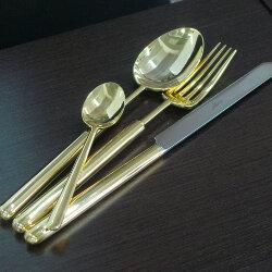 Набор столовых приборов 24 предмета «Bali Gold» Cutipol