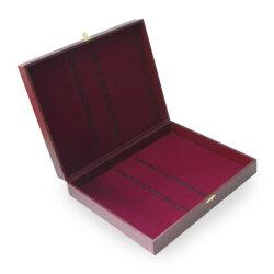 Коробка для 12 столовых приборов (бордовая с замочком)