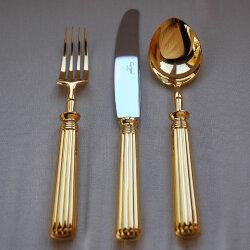 Набор столовых приборов 24 предмета «Line Gold» Cutipol