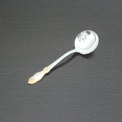 """Ложка для сахара """"Серебряная роза"""" (частично позолоченная) Кольчугино"""
