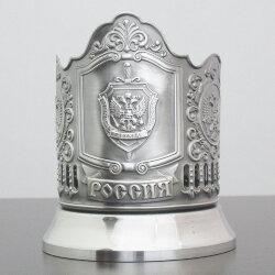 Подстаканник никелированный «ФСБ» с чернью «Кольчугино»