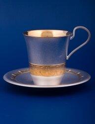 Чайный с блюдцем №11 (мельхиор, Мстёрский ювелир)