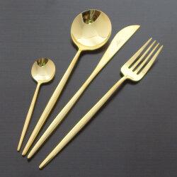 Набор столовых приборов 75 предметов на 12 персон «Moon Gold» Cutipol