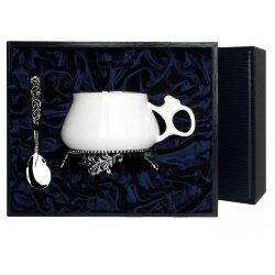 """Серебряная чайная чашка """"Билибина"""" с чернением. Аргента"""