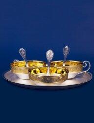 Кофейный набор №6 из мельхиора (Мстёрский ювелир)