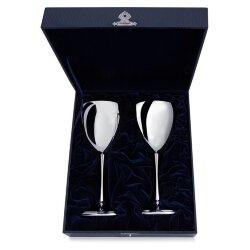 """Серебряные бокалы для вина """"Гладкие"""" (2 штуки). Аргента"""