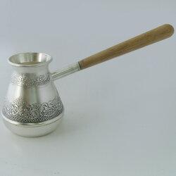 Турка для варки кофе посеребренная (Кольчугино)